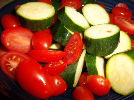 zucchini / tomatoes