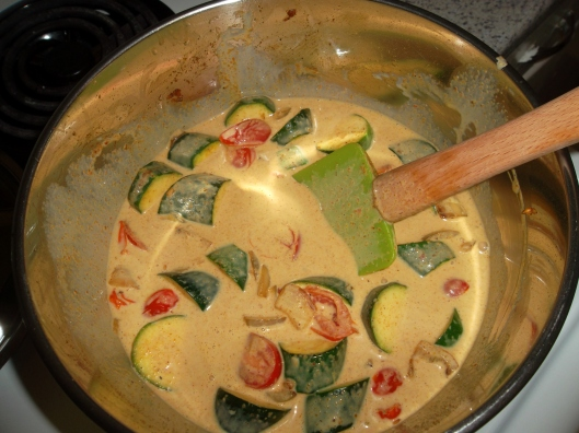 Veggies in curry goodness