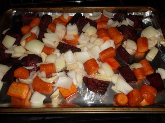 beets, carrots, onions, garlic