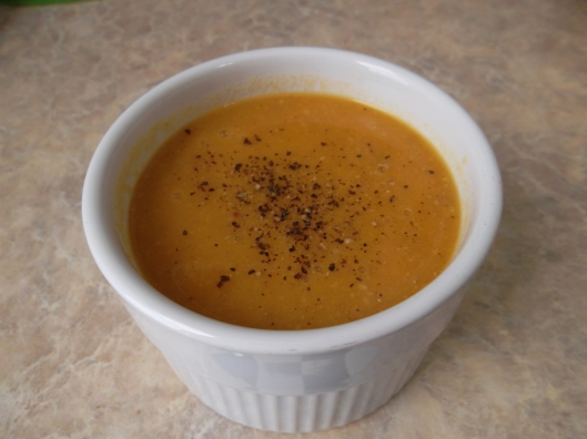 Paleo Curried Sweet Potato Bacon Soup